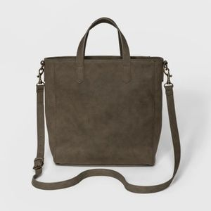UNIVERSAL THREAD faux suede Rowan tote Olive